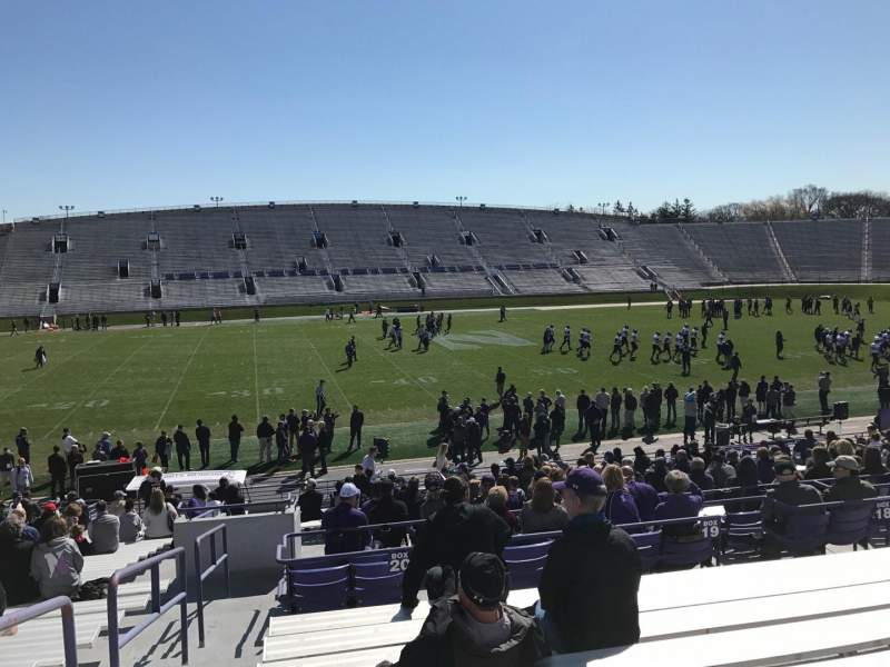 Seating view for Ryan Field Section 130 Row 31 Seat 28