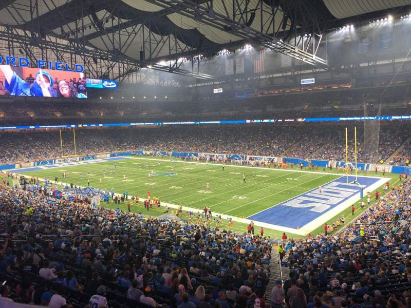 Seating view for Ford Field Section 214 Row 1 Seat 15