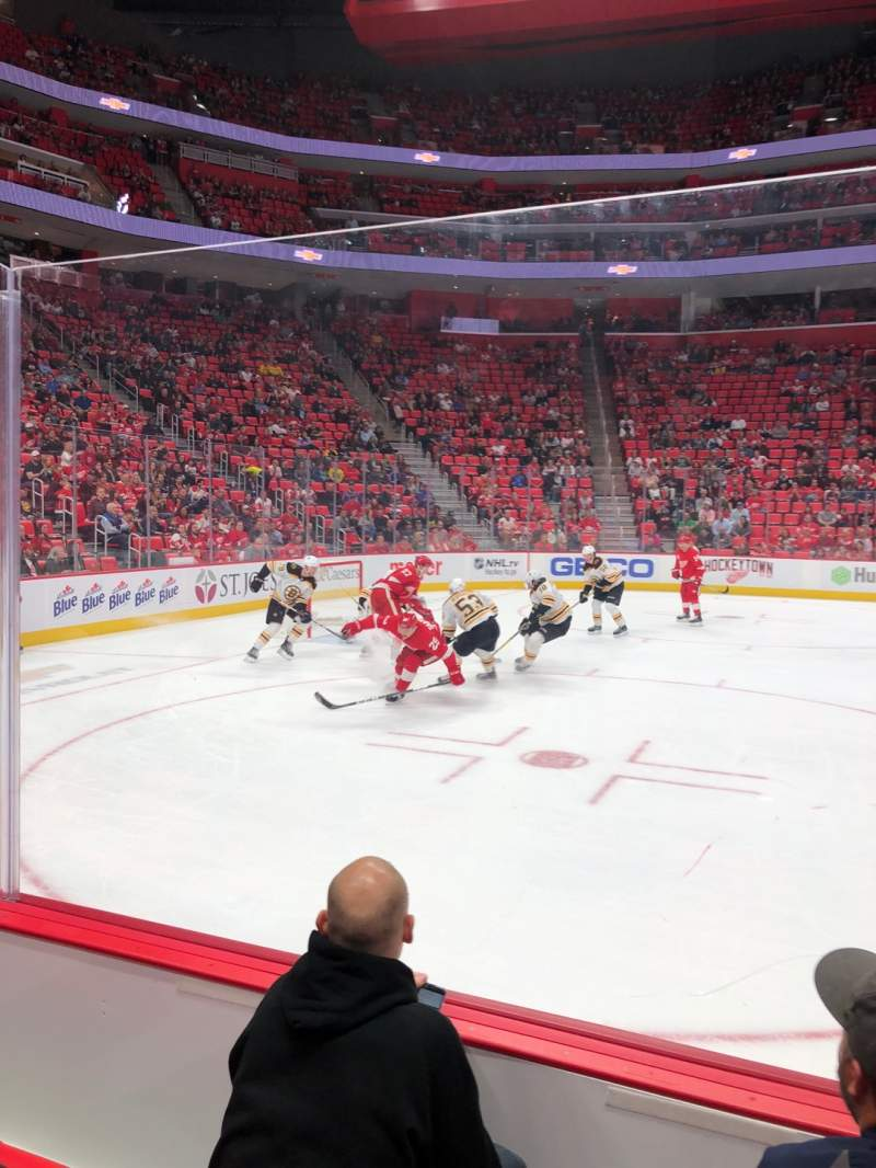 Seating view for Little Caesars Arena Section 125 Row 3 Seat 2