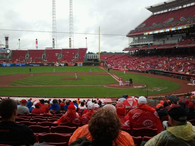Seating view for Great American Ball Park Section 119 Row FF Seat 6
