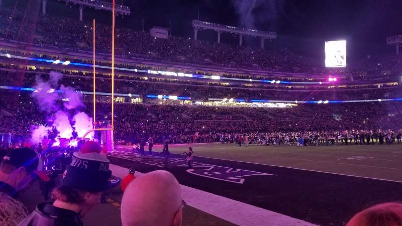 Seating view for M&T Bank Stadium Section 109 Row 2 Seat 6
