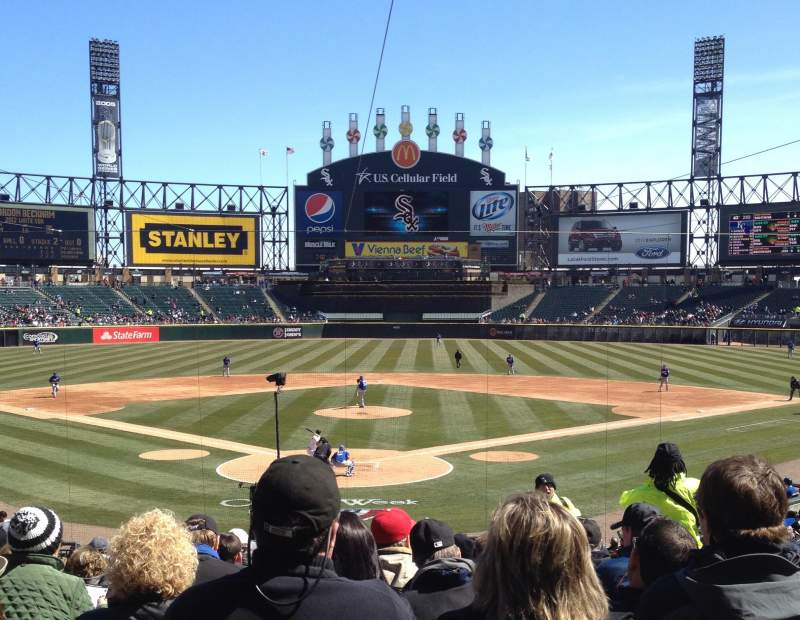 Seating view for Guaranteed Rate Field Section 131 Row 27 Seat 3