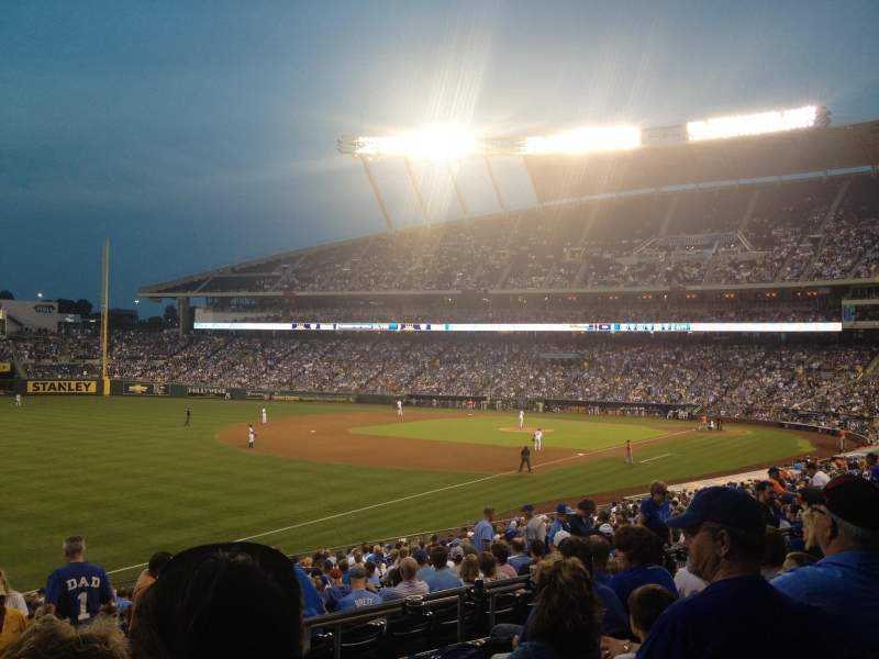 Seating view for Kauffman Stadium Section 211 Row FF Seat 12