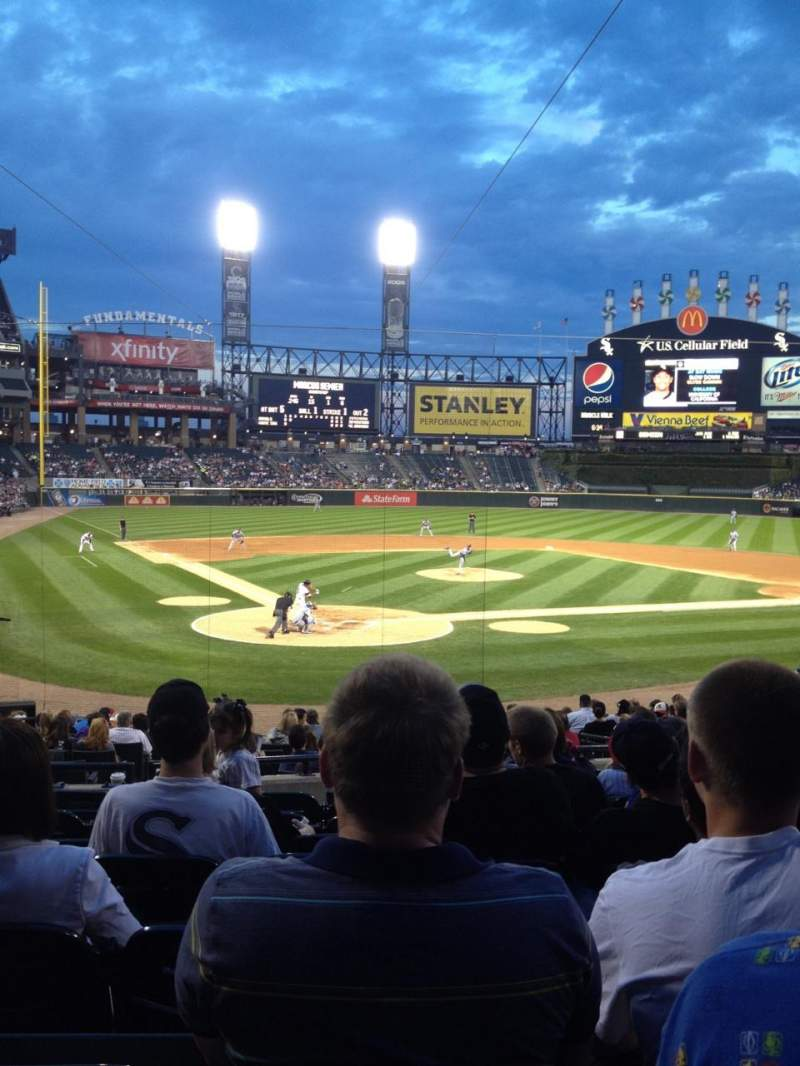 Seating view for Guaranteed Rate Field Section 130 Row 23 Seat 5