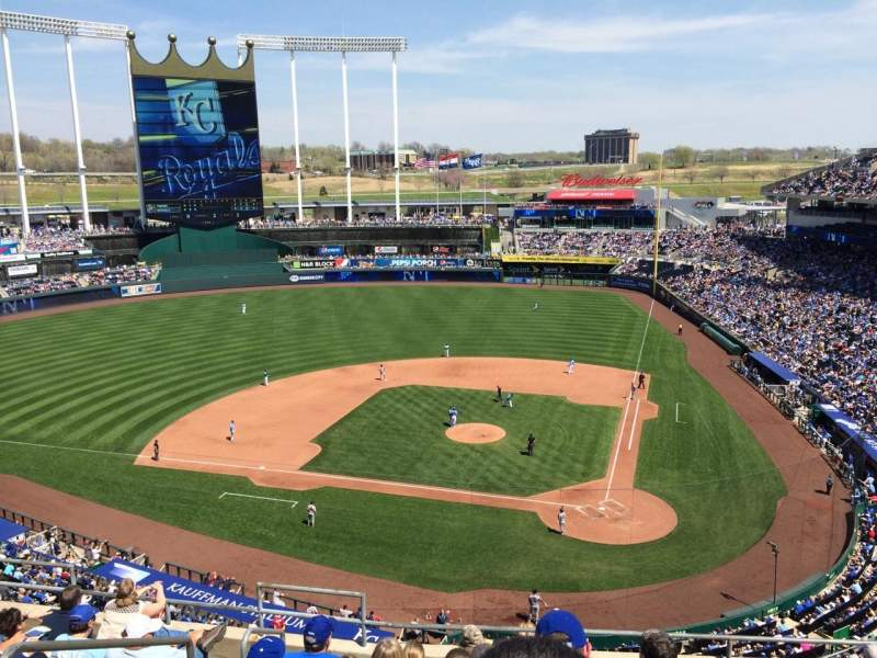 Seating view for Kauffman Stadium Section 415 Row J Seat 3