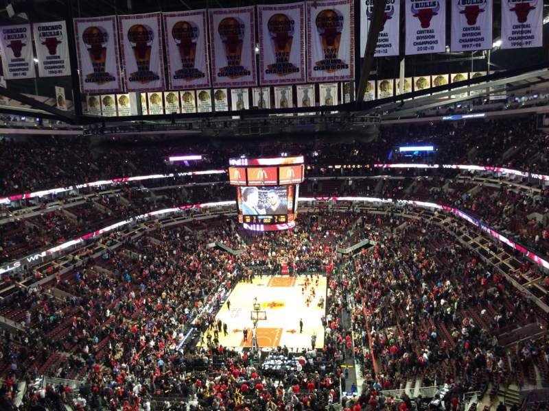 Seating view for United Center Section 325 Row 12 Seat 8