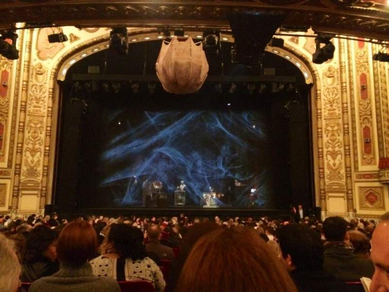 Seating view for Cadillac Palace Theater Section Orchestra C Row T Seat 110