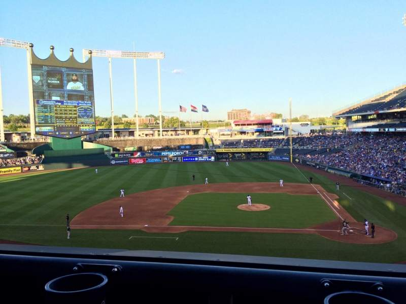 Seating view for Kauffman Stadium Section 309 Row A Seat 5