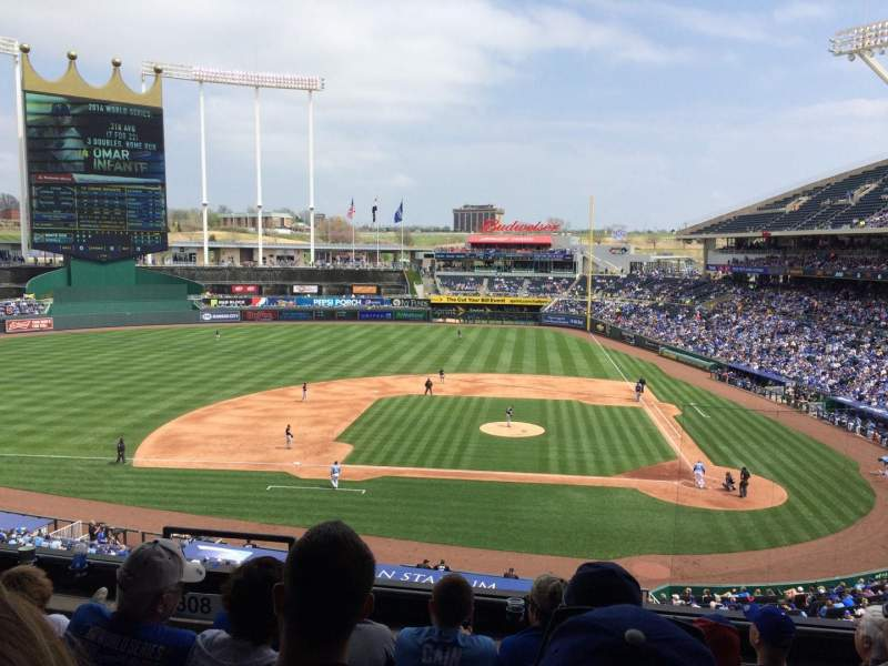 Seating view for Kauffman Stadium Section 309 Row F Seat 5