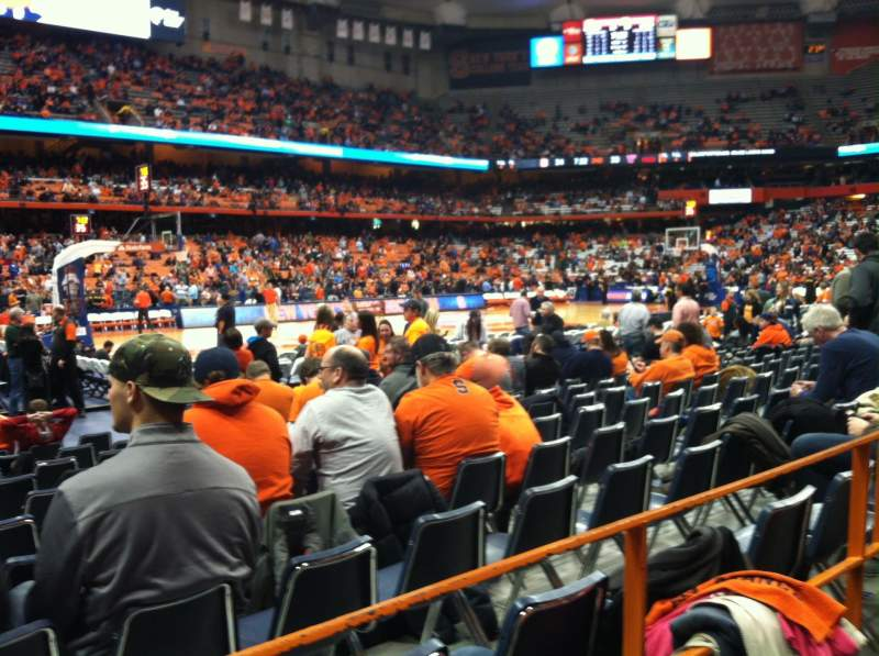 Seating view for Carrier Dome Section 125 Row A Seat 102