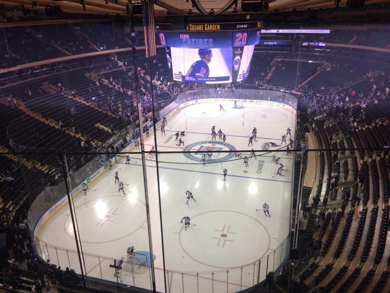 Seating view for Madison Square Garden Section 321 Row 2 Seat 12