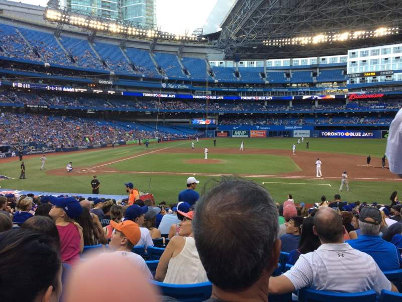Seating view for Rogers Centre Section 117R Row 26 Seat 6