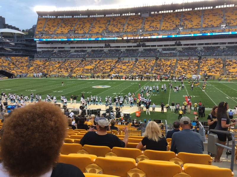 Seating view for Heinz Field Section 112 Row Z Seat 2