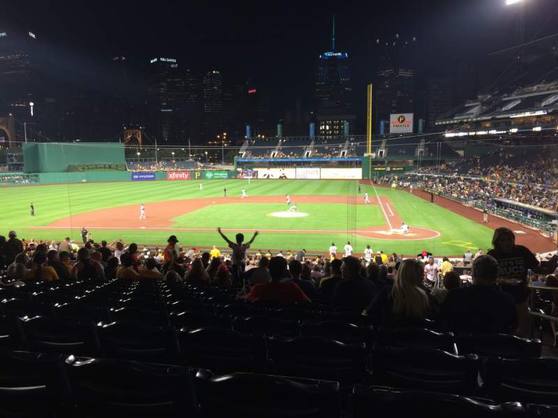 Seating view for PNC Park Section 120 Row CC Seat 2