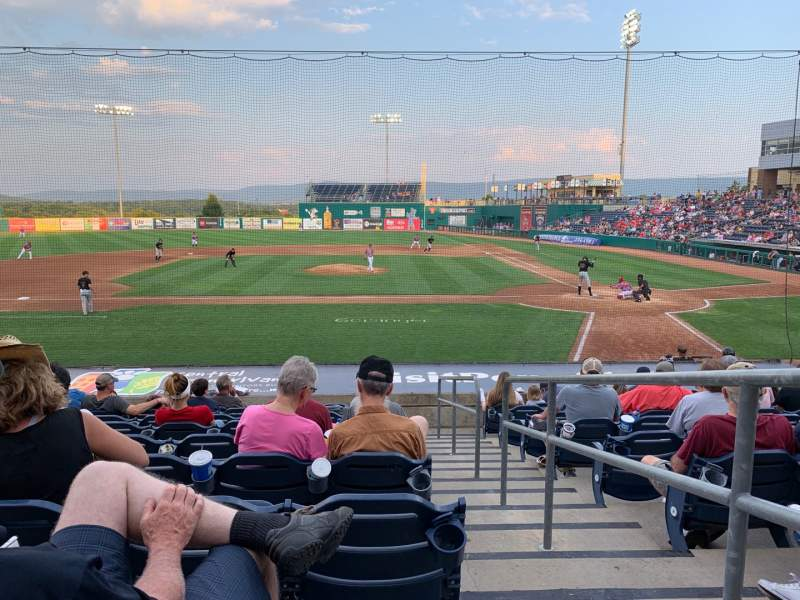Seating view for Medlar Field at Lubrano Park Section 102 Row 11 Seat 16