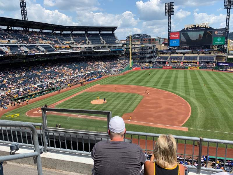 Seating view for PNC Park Section 208 Row C Seat 18