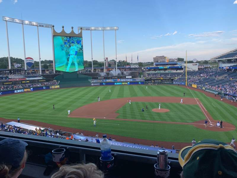 Seating view for Kauffman Stadium Section 309 Row B Seat 10