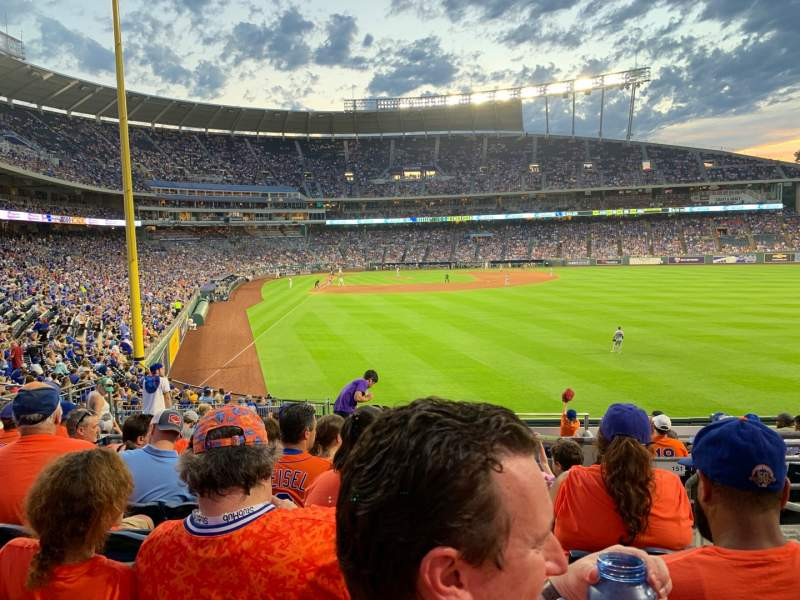 Seating view for Kauffman Stadium Section 250 Row GG Seat 19
