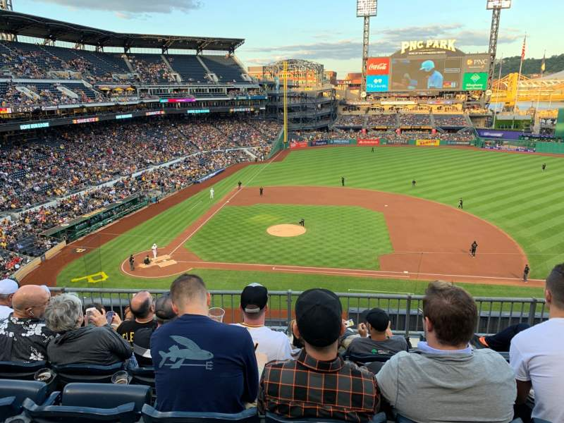 Seating view for PNC Park Section 210 Row E Seat 7
