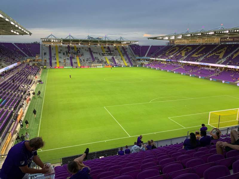 Seating view for Exploria Stadium Section 106 Row P Seat 22