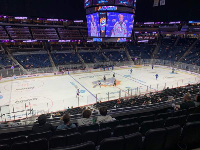 Seating view for Amway Center Section Club E Row 5 Seat 17