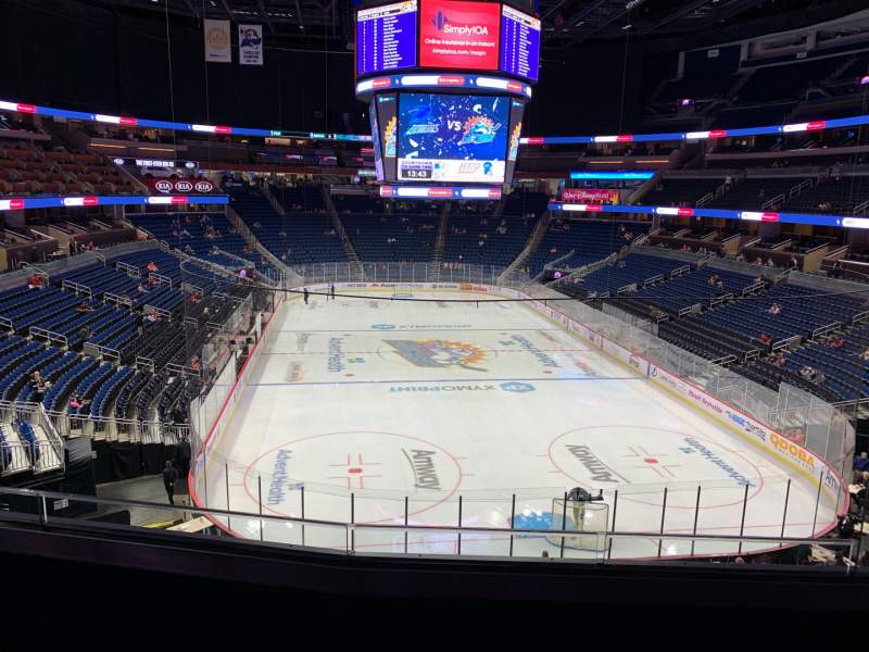 Seating view for Amway Center Section 111A Row 25 Seat 3