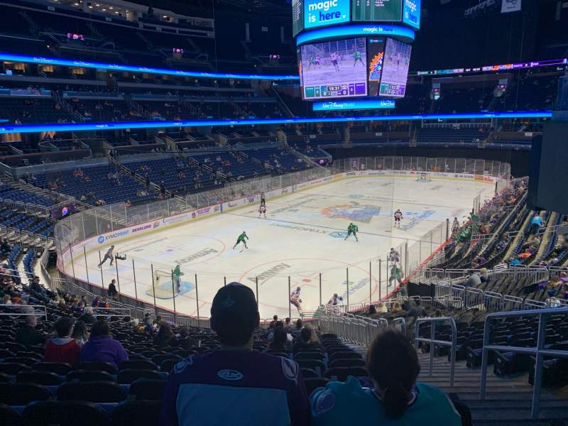 Seating view for Amway Center Section 118 Row 28 Seat 3