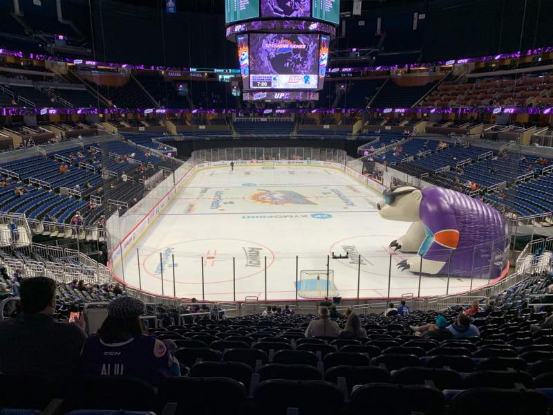 Seating view for Amway Center Section 101 Row 27 Seat 23
