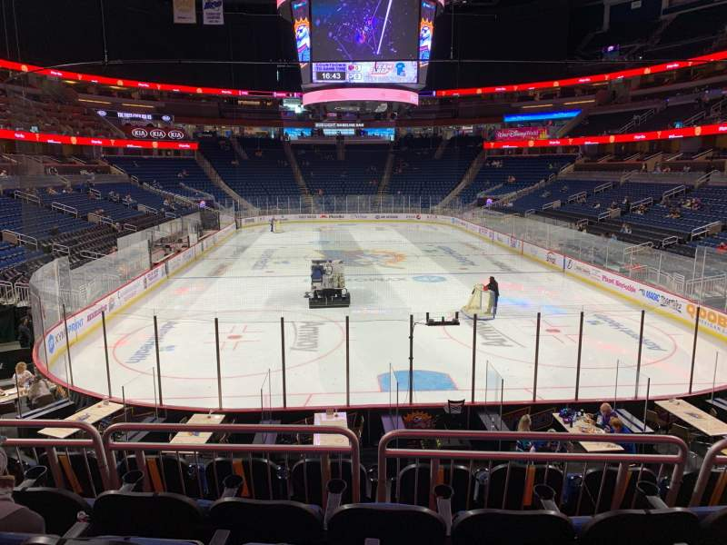 Seating view for Amway Center Section 110 Row 19 Seat 18