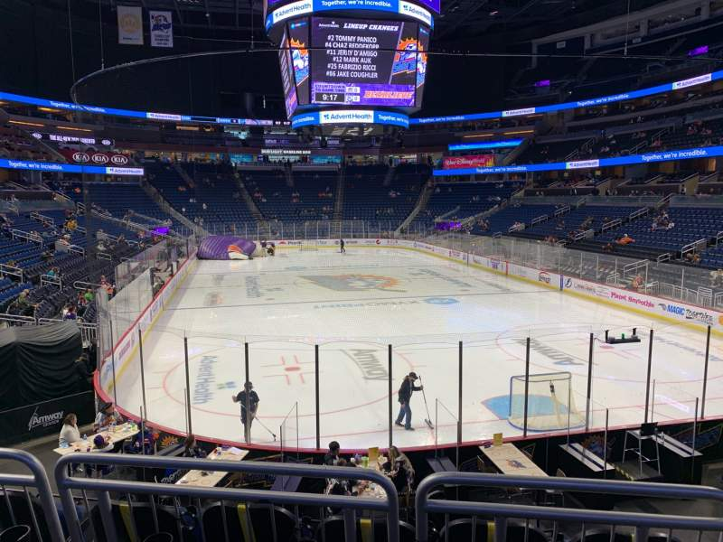 Seating view for Amway Center Section 111 Row 18 Seat 3