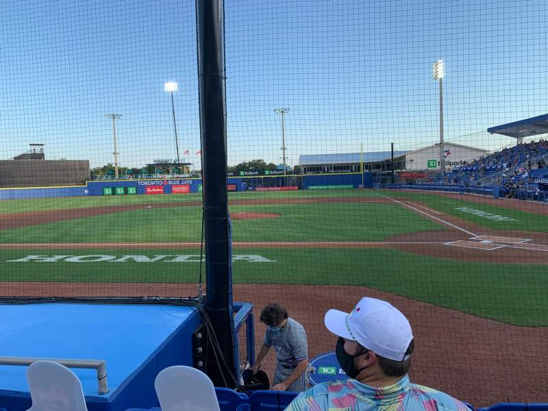 Seating view for TD Ballpark Section 109 Row 5 Seat 9