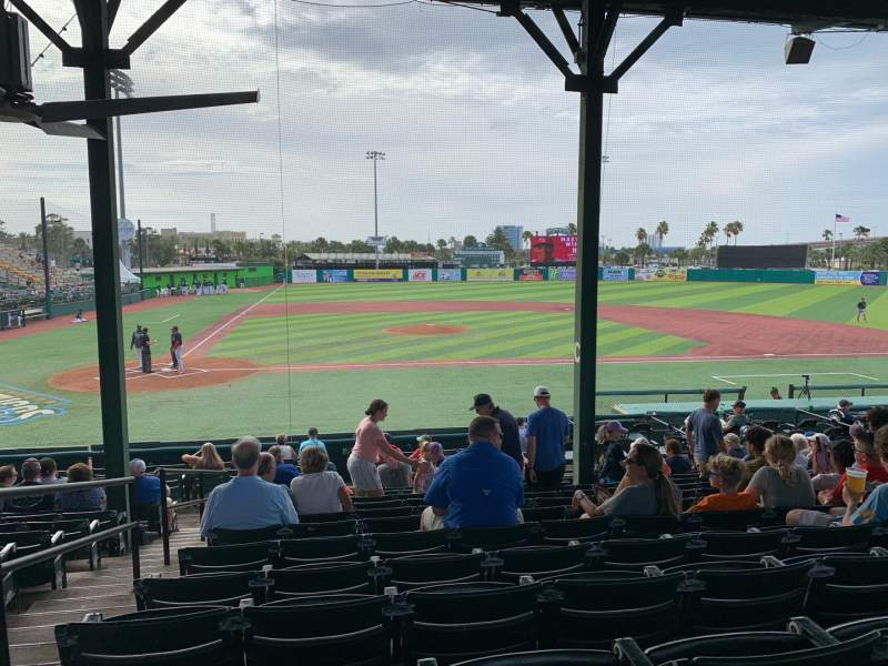 Seating view for Jackie Robinson Ballpark Section C Row 13 Seat 2