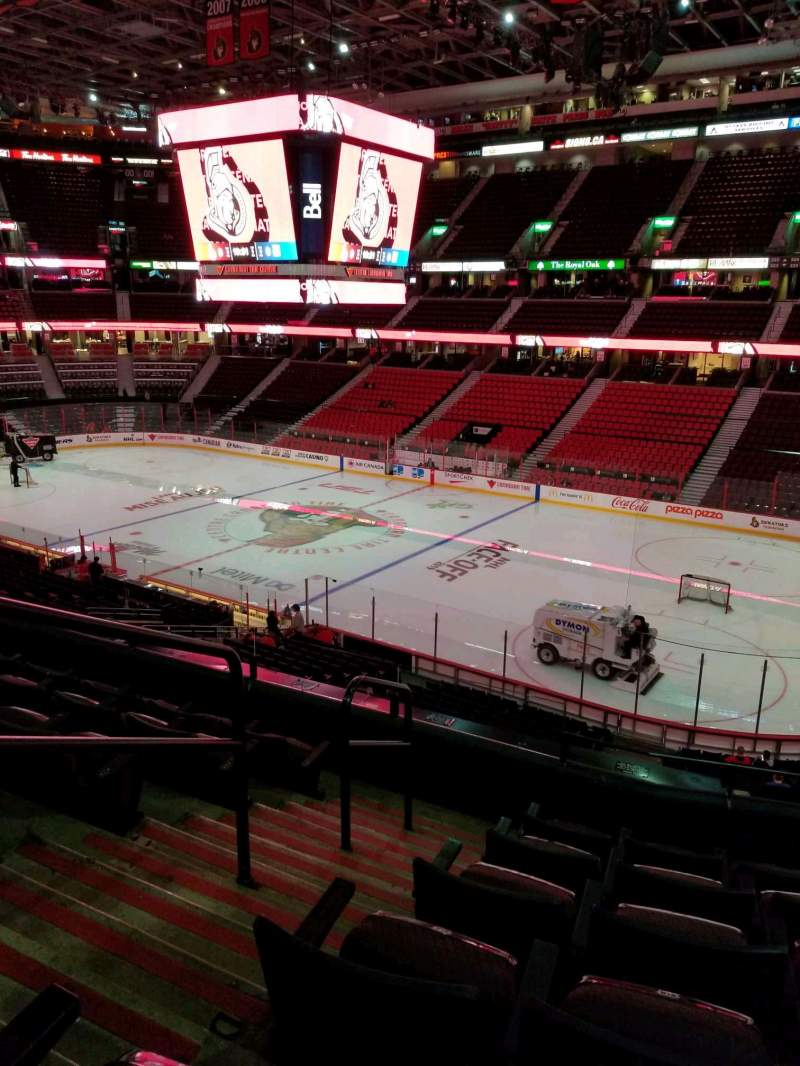 Seating view for Canadian Tire Centre Section 205 Row f Seat 15
