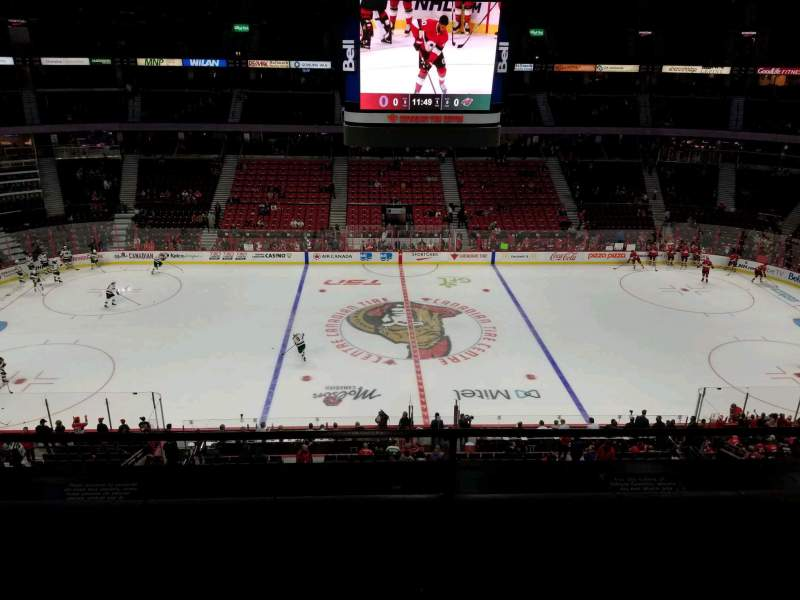 Seating view for Canadian Tire Centre Section 308 Row b Seat 13
