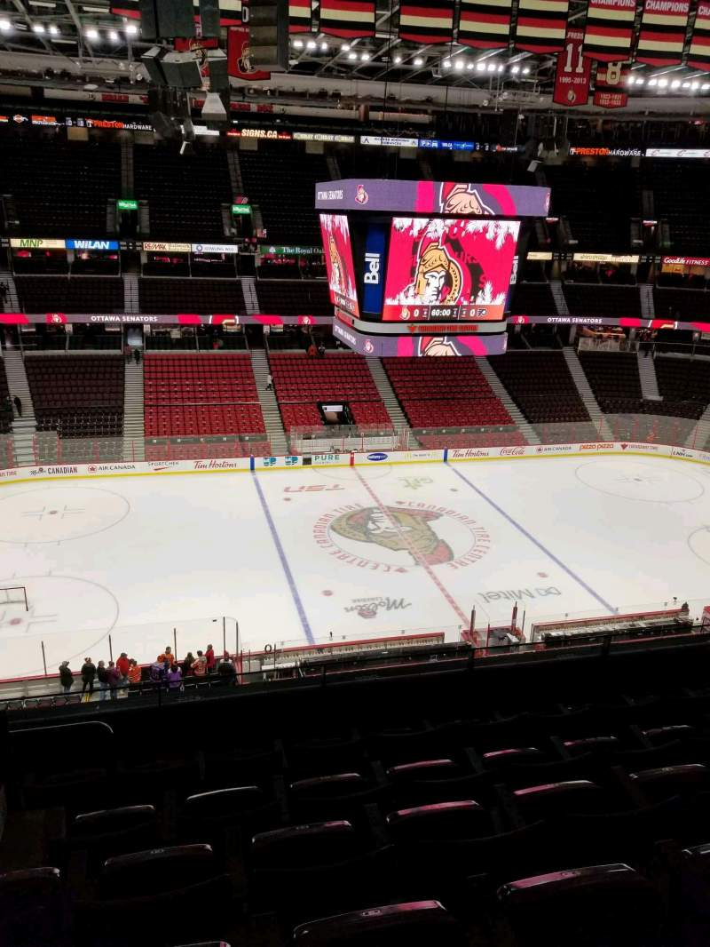 Seating view for Canadian Tire Centre Section 309 Row f Seat 13