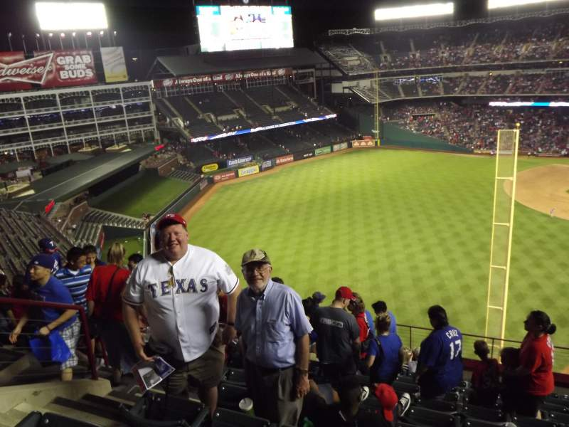 Seating view for Globe Life Park in Arlington Section 308 Row 8 Seat 5