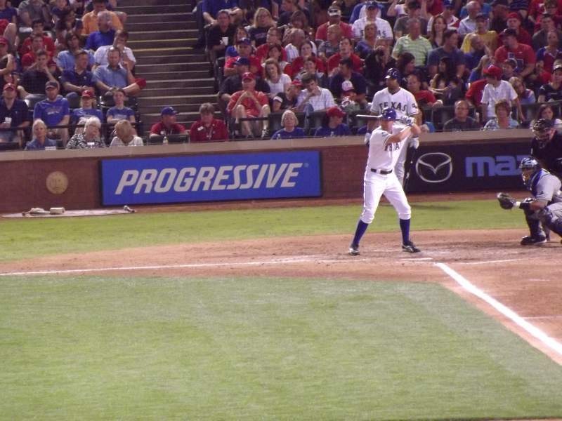 Seating view for Globe Life Park in Arlington Section 8 Row 11 Seat 1