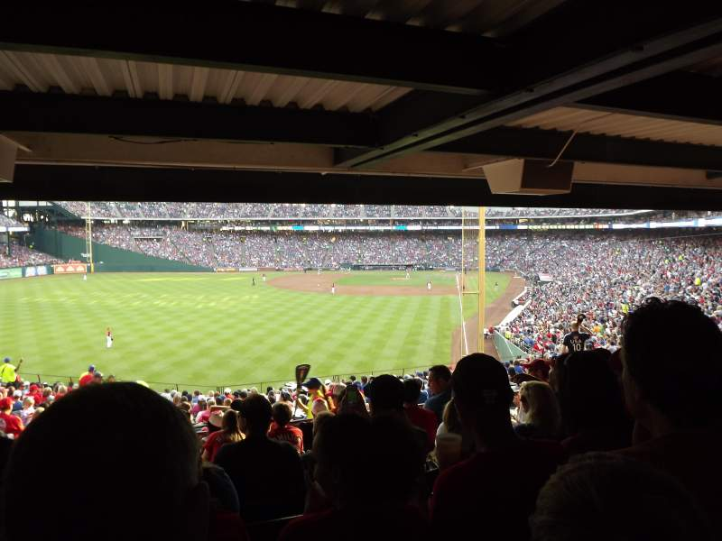 Seating view for Globe Life Park in Arlington Section 8 Row 24 Seat 1
