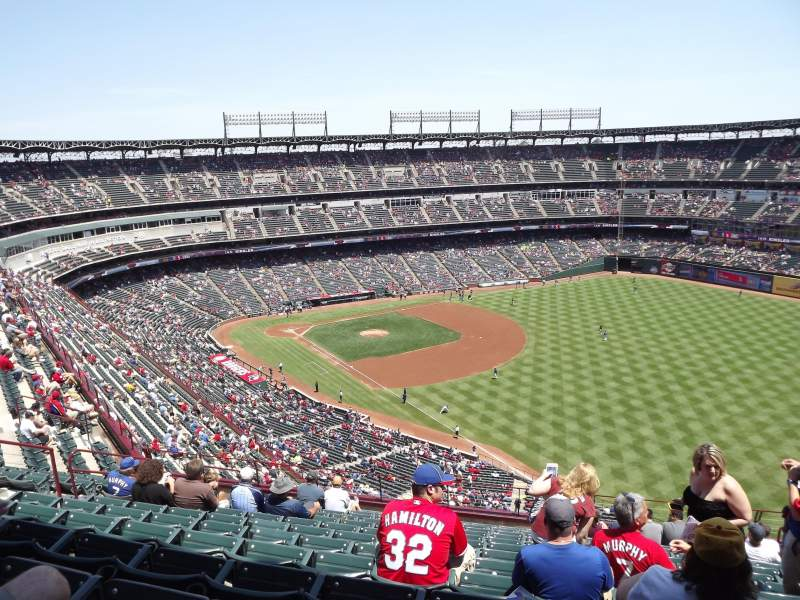 Seating view for Globe Life Park in Arlington Section 341 Row 14 Seat 14