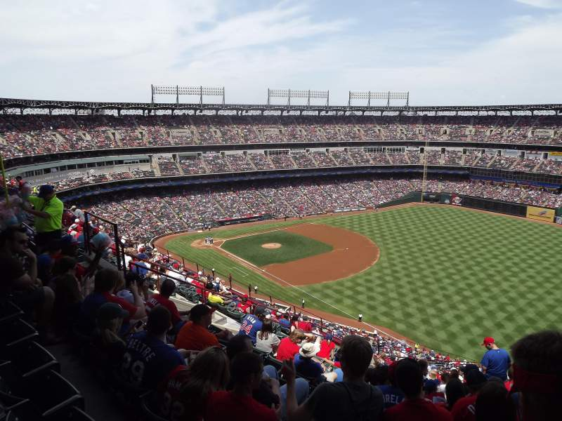 Seating view for Globe Life Park in Arlington Section 340 Row 16 Seat 15