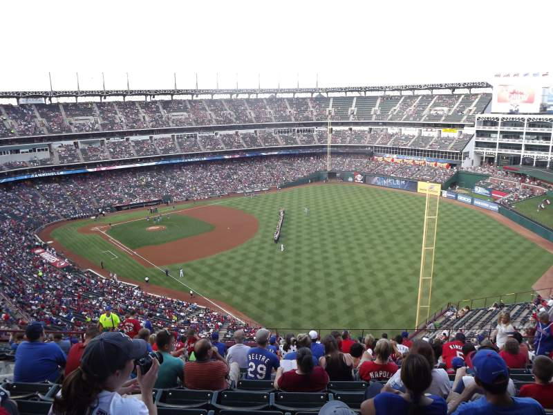 Seating view for Globe Life Park in Arlington Section 342 Row 16 Seat 10