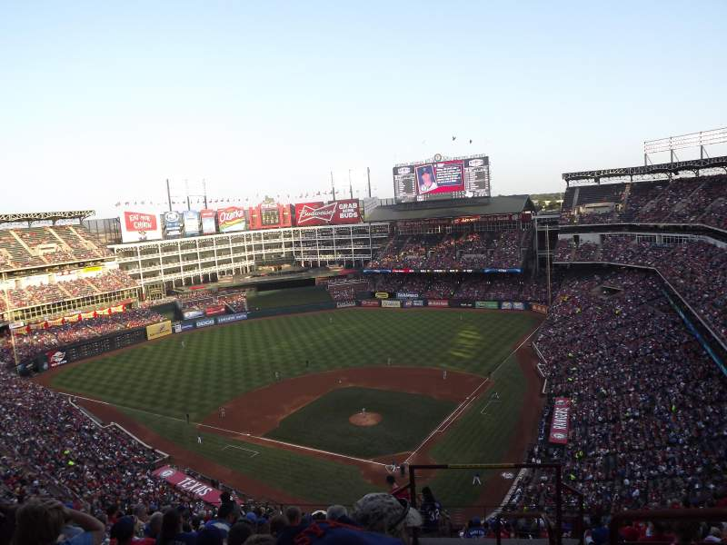 Seating view for Globe Life Park in Arlington Section 324 Row 18 Seat 22