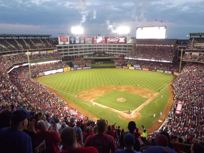 Seating view for Globe Life Park in Arlington Section 324 Row 16 Seat 20