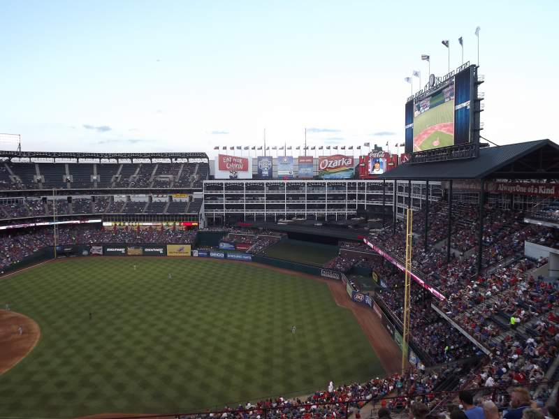 Seating view for Globe Life Park in Arlington Section 339 Row 9 Seat 5