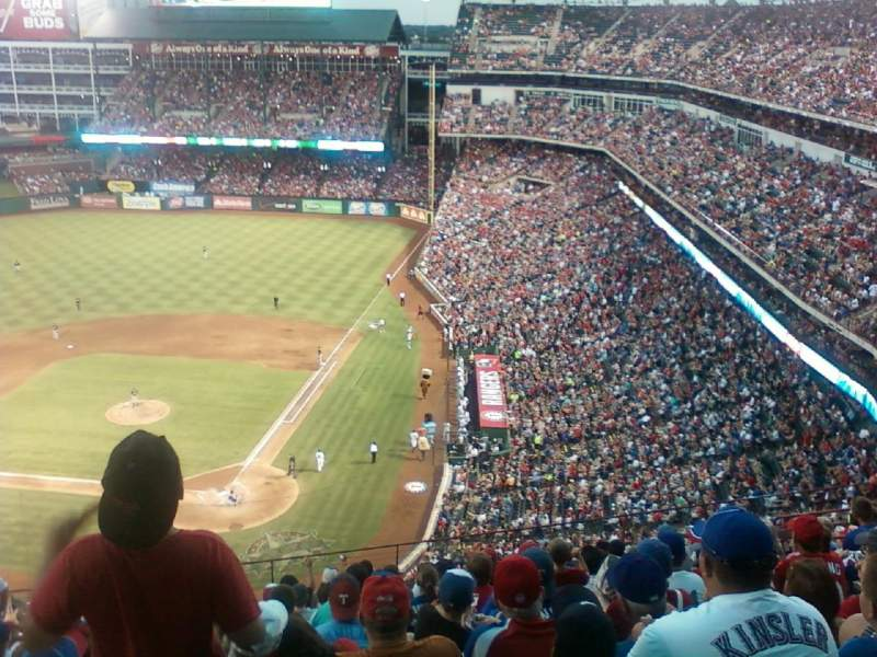 Seating view for Globe Life Park in Arlington Section 324 Row 13 Seat 6
