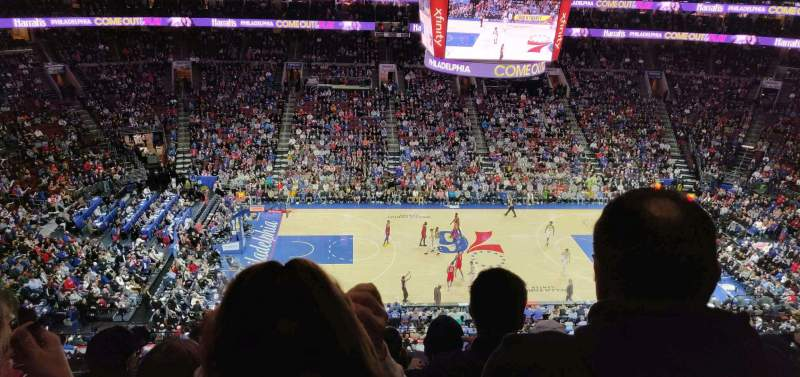 Seating view for Wells Fargo Center Section 224 Row 6 Seat 10