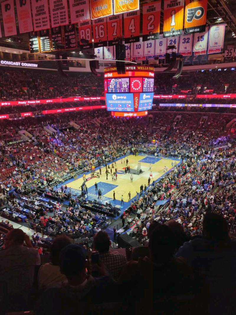 Seating view for Wells Fargo Center Section 221A Row 4 Seat 1