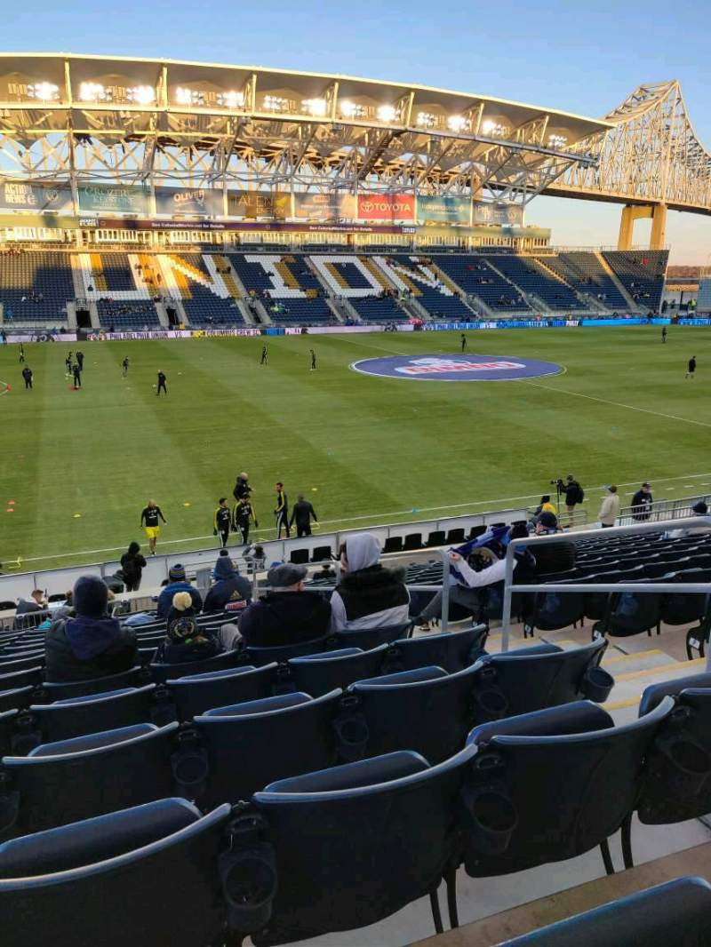 Seating view for Subaru Park Section 110 Row T Seat 4