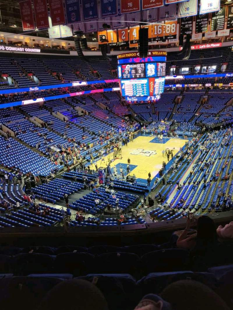 Seating view for Wells Fargo Center Section 209 Row 5 Seat 6