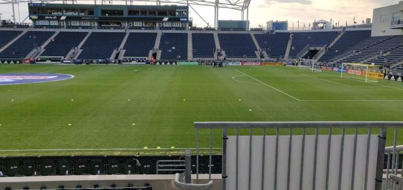 Seating view for Subaru Park Section 125 Row L Seat 1